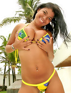 Chk our lorina get pounded by the pool in these hot brazilian bikini pics