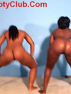 Big black and white asses